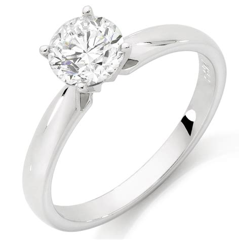 Solitaire Rings by Solitaire Engagement Ring With A 1 Carat In 14ct
