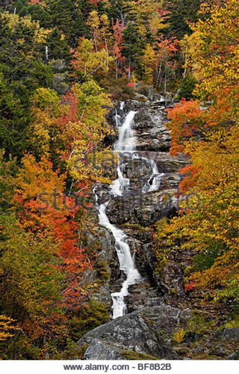 silver cascade nh new england waterfalls crawford notch state park fall stock photos crawford