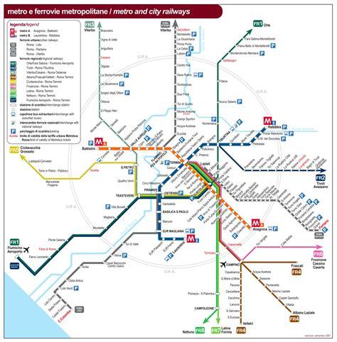 transport map rome transport map maps