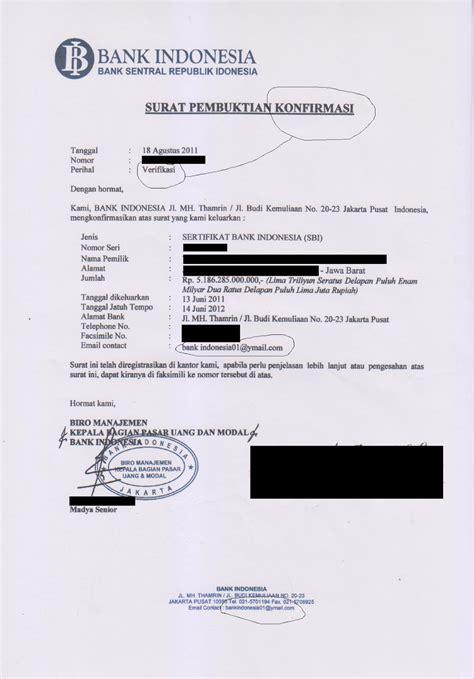 dokumen sertifikat bank indonesia sbi yang banyak memakan korban