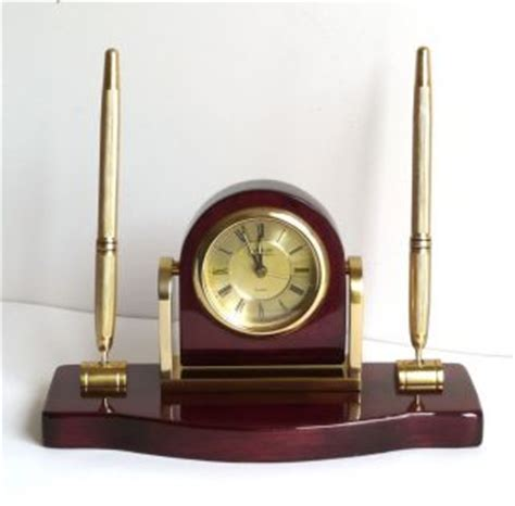 danbury desk clock pen set bombay company pen set desk set executive leather business