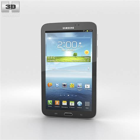 Second Samsung Tab 3 7 Inch samsung galaxy tab 3 7 inch black 3d model hum3d