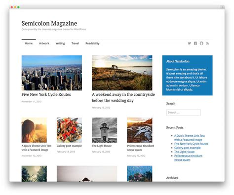 50 attractive photography wordpress themes for 2016 50 beautiful free responsive wordpress themes to build