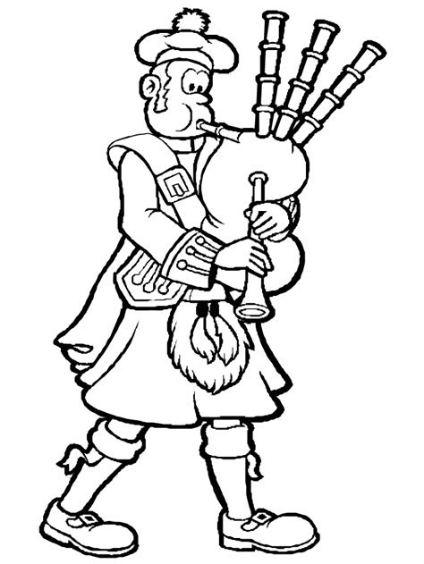 bagpiper2 scotland coloring pages coloring book