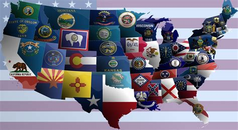 usa map states flags united states of america flag map by jaysimons on deviantart