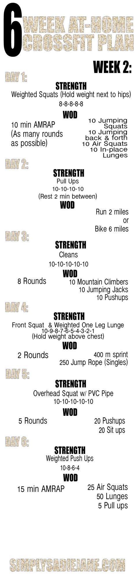 6 week at home crossfit inspired workouts week 1