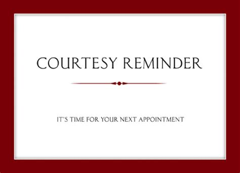 reminder card template 7 brilliant appointment reminder direct mail postcard exles