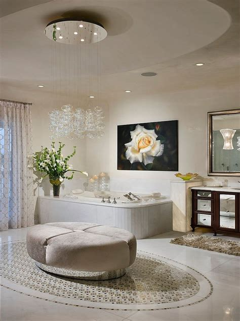 add luxury using ceiling bathroom lights warisan lighting 25 sparkling ways of adding a chandelier to your bathroom