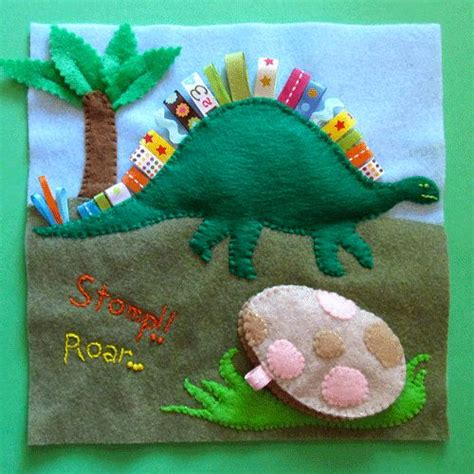 patterns for quiet book pages dinosaur quiet book page with pattern quiet book ideas