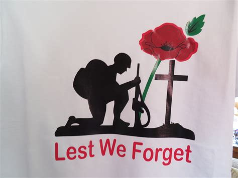Lest We Forget by Lest We Forget Poppy T Shirts In White Or Black