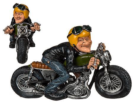Motorrad Deko by Deko Figur Motorrad Biker Skulptur Motorradfahrer Mit