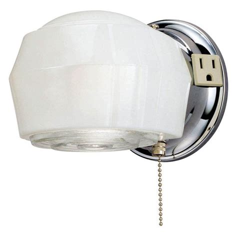 Pull Chain Wall Light Fixture Westinghouse 66402 1 Light Chrome Wall Light Fixture Elightbulbs