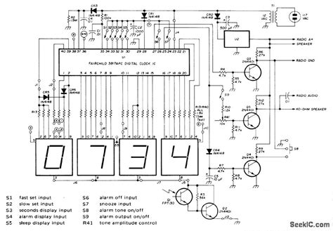 digital alarm alarm control control circuit circuit diagram seekic
