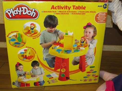 Play Doh Activity Table by Play Doh Activity Table Waffle Machine Hair Studio Dough Machine Unboxing