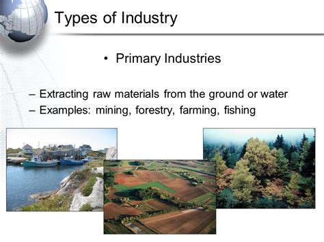 economic geography review primary industries ppt