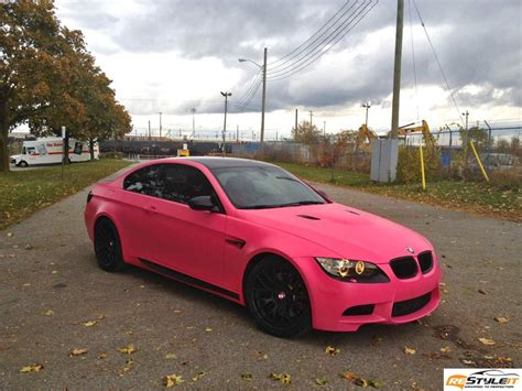 matte pink car bmw m3 wrapped in matte pink autoevolution