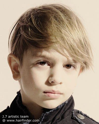 hairstyles for toddler boy that are hip trendy haircut with a long fringe for little boys