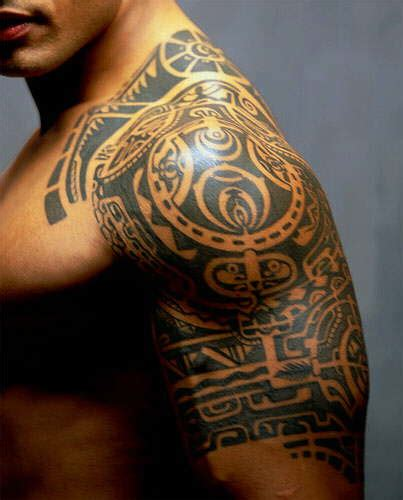 the rocks tribal tattoo dwayne johnson the rock