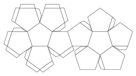 foldables templates file foldable dodecahedron blank jpg wikimedia commons