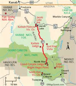map of grand arizona wildernet kaibab plateau parkway arizona