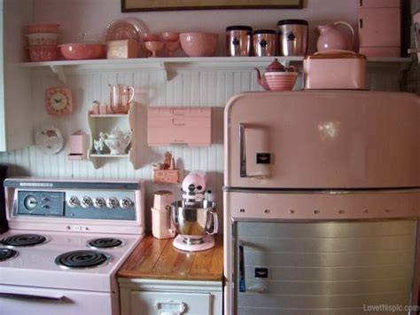 retro kitchens images pink retro kitchen cute home vintage kitchen s