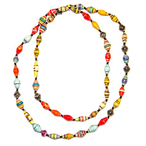 bead jewelry marejesho paper bead necklace intrinsic styles