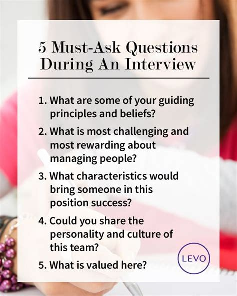 interview questions 5 must ask questions during an interview interview job