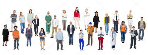 varias imagenes jpg a pdf grupo de varias personas de ocupaciones foto de stock