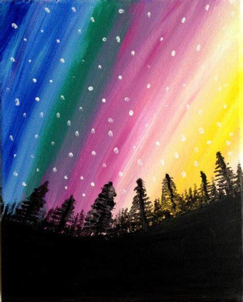 acrylic painting northern lights northern lights painting acrylic painting from preethiart