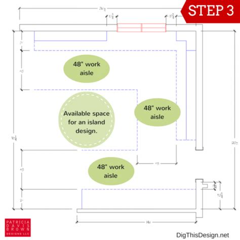 kitchen layout clearances quick diy guide to laying out a kitchen plan dig this design