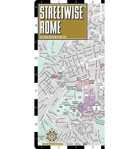 streetwise rome map laminated city map of rome