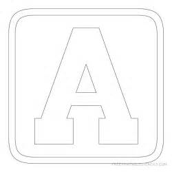 Block Letter Alphabet Template Gallery For Gt Block Letter Stencils Alphabet