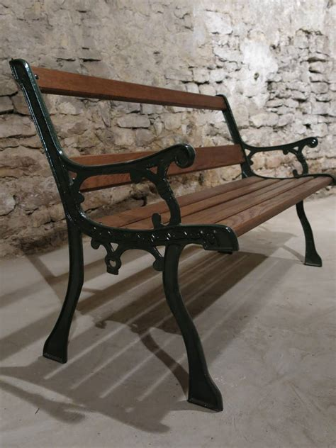 bench in french french antique bench in iron and wood from paris france at 1stdibs