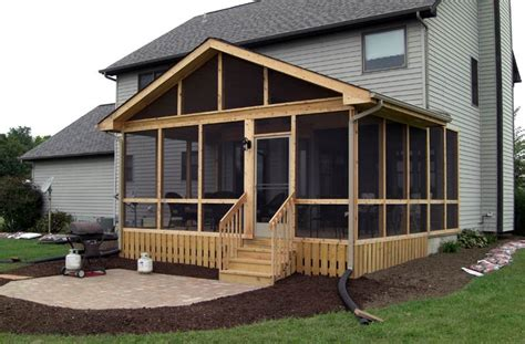 Ranch Home Designs Floor Plans by Screened Porches Columbus Ohio Custom Built Screen Rooms