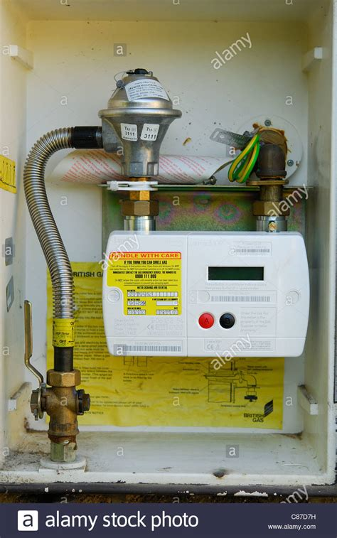 Regulator Gas Modern Gas Meter a modern domestic smart gas meter uk 2011 stock photo