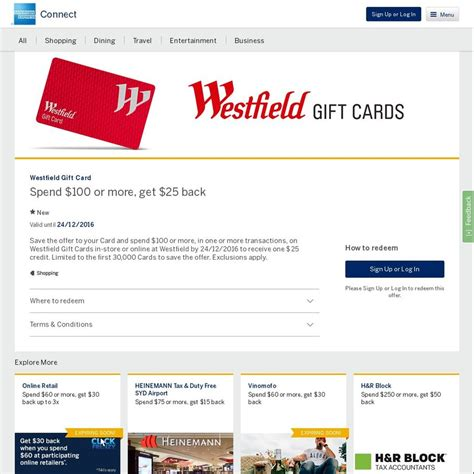 Where To Get Westfield Gift Card - amex statement credits westfield gift card myer woolworths nespresso rebel