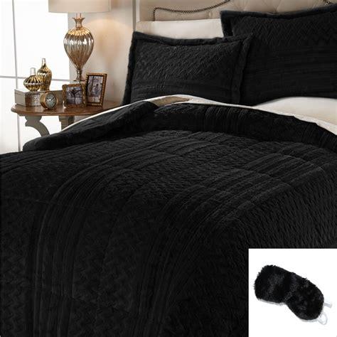 Mink Comforter King by Reversible Sculpted Texture Mink Faux Fur Alternative