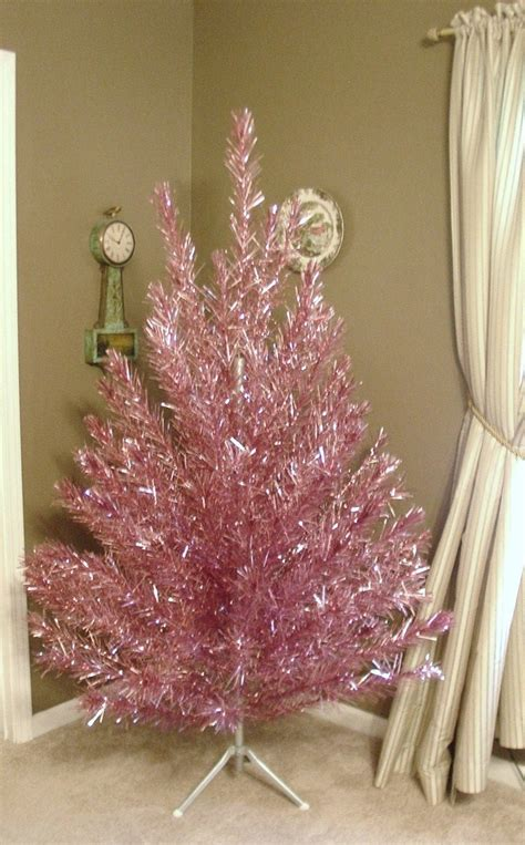 reserved rare vintage pink aluminum christmas tree 6 5