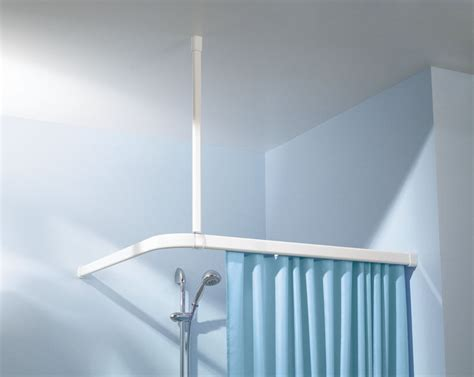 suspension rod curtain solid teal shower curtain