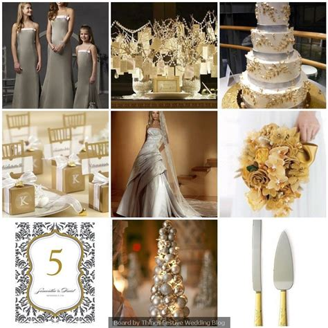 silver and gold wedding theme winter wedding theme idea cake s gold wedding colors gold