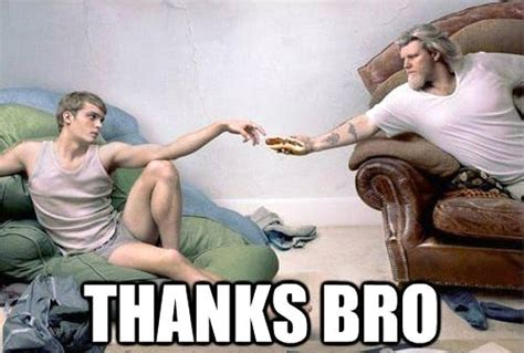 Funny Gay Meme - thanks bro hot dog sandwich painting daily picks and flicks