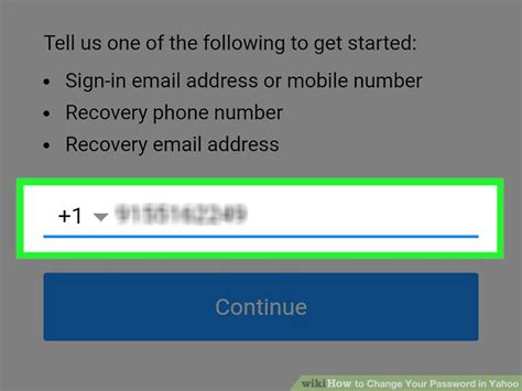 yahoo email recovery phone number 4 ways to change your password in yahoo wikihow