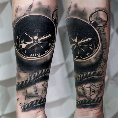 black and grey compass tattoo compass tattoo designs with meaning nautical compass