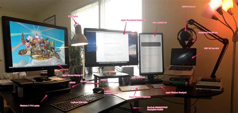 Programmer Desk Setup The Workspace Of A Modern Programmer Java Iot