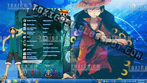 tema windows 7 luffy by toxicosm on deviantart
