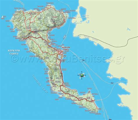 map in 4 best corfu maps in and atcorfu
