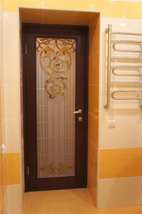interior bathroom doors stained glass interior doors