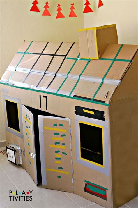 cardboard box crafts for best 25 cardboard box houses ideas on