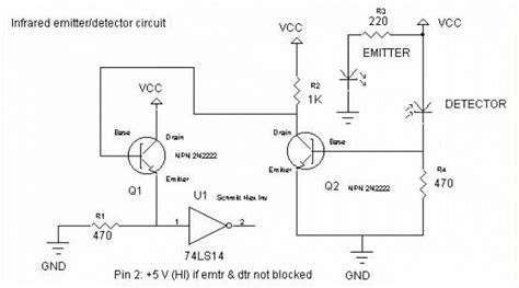 infrared emitter and detector circuit diagram