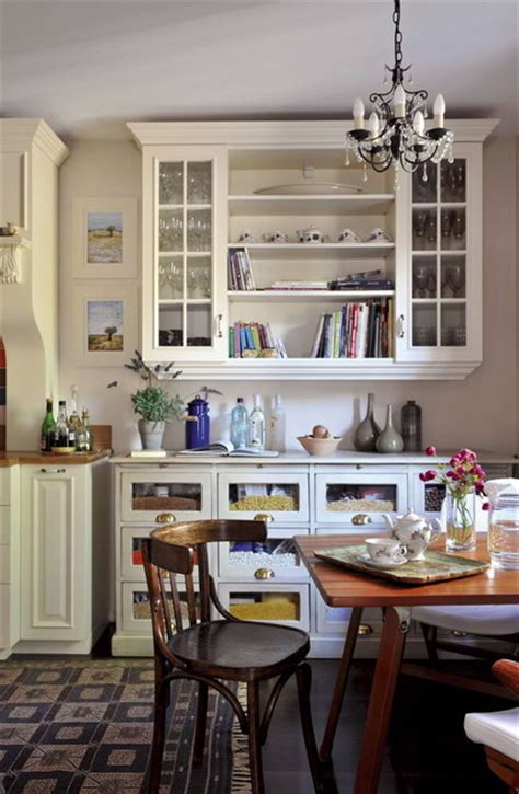 eclectic kitchen cabinets vintage old style